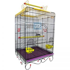 folding cage for grey parrot